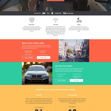 Hyrecar- Rent a car in US| Ride sharing in US