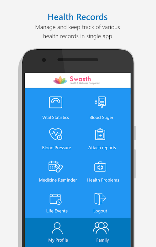 Mobile App for Medical Record Tracking | Blood Pressure Management | Blood Sugar Management | Swasth